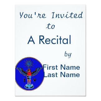aztec blue style eagle sun symbols pagan design.pn invites