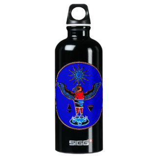 aztec blue style eagle sun symbols pagan design.pn SIGG traveler 0.6L water bottle