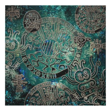 Aztec Themed Aztec blues  Matte Wall Panel (12x12)