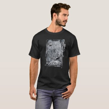Aztec Themed Aztec blues Men's Basic Dark T-Shirt