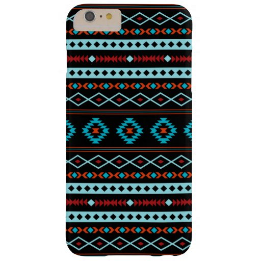 Aztec Blues Reds Black Mixed Motifs Pattern Barely There iPhone 6 Plus Case