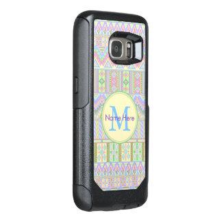 Aztec Boho Pastels Monogram galaxyS7 Girly Chic OtterBox Samsung Galaxy S7 Case