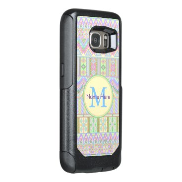Aztec Themed Aztec Boho Pastels Monogram galaxyS7 Girly Chic OtterBox Samsung Galaxy S7 Case