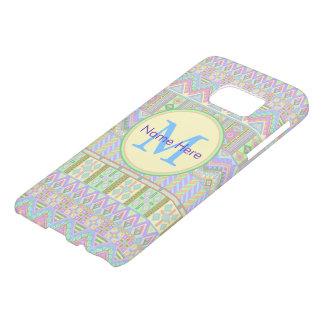 Aztec Boho Pastels Monogram galaxys7 Girly Chic Samsung Galaxy S7 Case