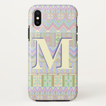 Aztec Themed Aztec Boho Pastels Monogram ifonX Southwestern iPhone X Case