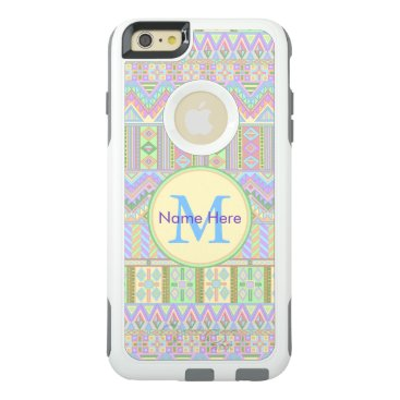 Aztec Themed Aztec Boho Pastels Monogram iphone6plus Chic OtterBox iPhone 6/6s Plus Case