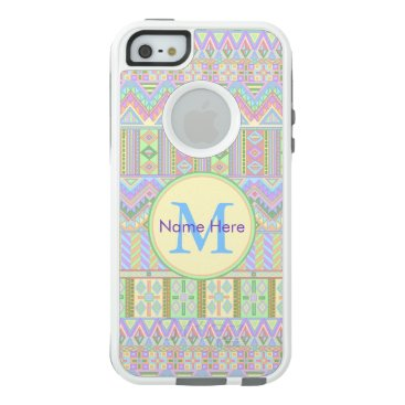Aztec Themed Aztec Boho Pastels Monogram iphoneSE Girly Chic OtterBox iPhone 5/5s/SE Case