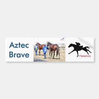 Aztec Brave Bumper Sticker
