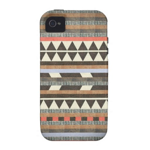 Aztec Brown Pattern Vibe iPhone 4 Cases