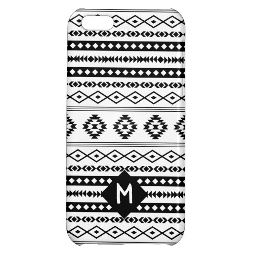 Aztec BW Mixed Motif Pattern (Customized) Case For iPhone 5C