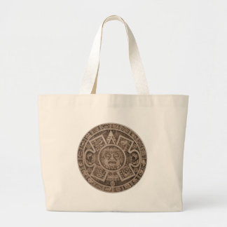 Aztec Calendar Canvas Bags