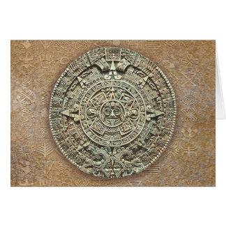 Aztec Calendar Card