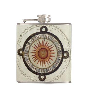 Aztec Themed Aztec Calendar Flask