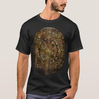 Aztec Calendar Folk Art T-Shirt