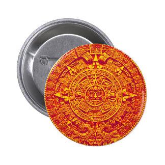 Aztec Calendar - gold Buttons