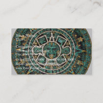Aztec Calendar in detail Business Card