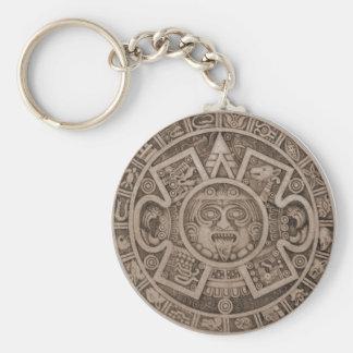 Aztec Calendar Key Chains