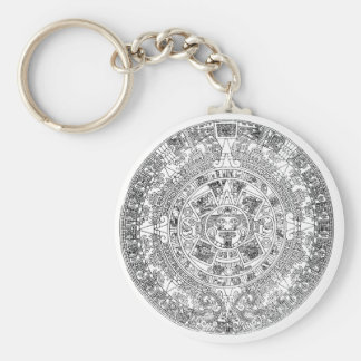 aztec calendar key chain