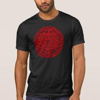 Aztec Calendar - red T-Shirt