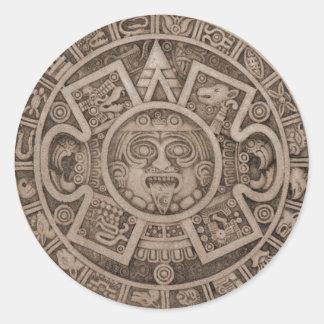 Aztec Calendar Sticker