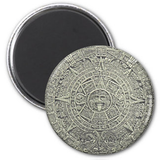 Aztec Calendar Stone 2 Inch Round Magnet