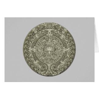 Aztec calendar stone aztec calendar stone greeting card