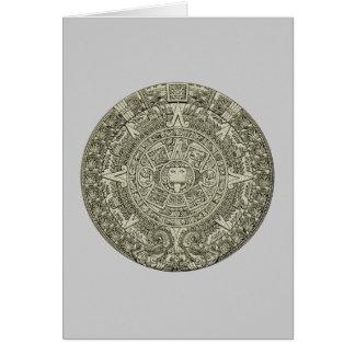 Aztec calendar stone aztec calendar stone card