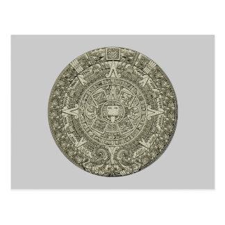 Aztec calendar stone aztec calendar stone postcards