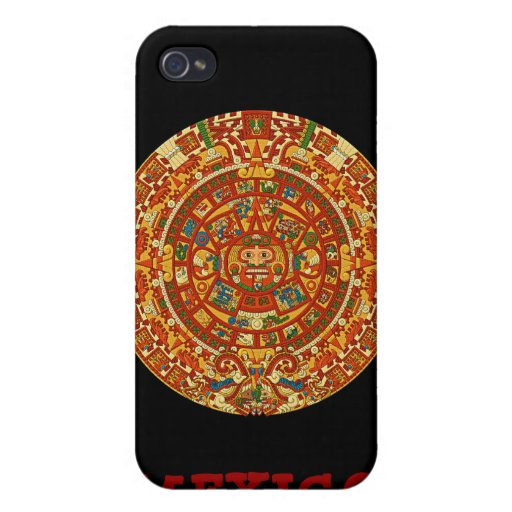Aztec Calendar Stone or Sun Stone of Mexico. iPhone 4 Cover