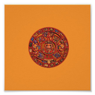 Aztec Calendar Stone - poster/print