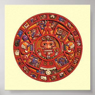 Aztec Calendar Stone - poster/print Poster