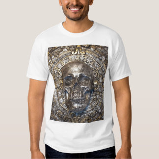 aztec calendar with skull t-shirt