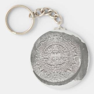 Aztec Calender 1862 Mayan Calendar adaption Keychain