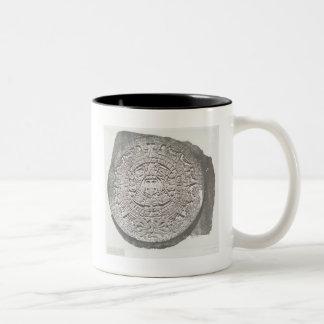 Aztec Calender 1862 Mayan Calendar adaption Two-Tone Coffee Mug