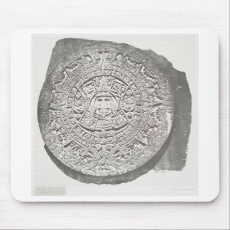 Aztec calender 1862 mouse pad