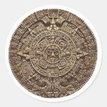 Aztec Calender Round Sticker