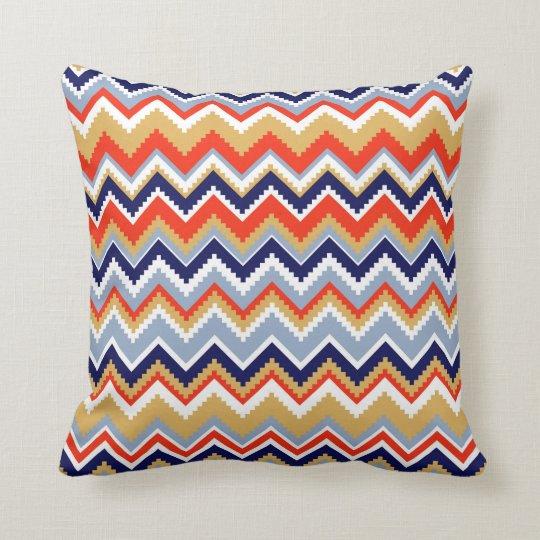 Aztec Chevron #11 @ VictoriaShaylee Throw Pillow