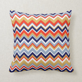 Aztec Chevron #11 @ VictoriaShaylee Throw Pillow