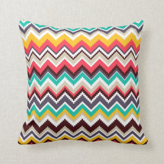 Aztec Chevron #3 @ VictoriaShaylee Throw Pillow