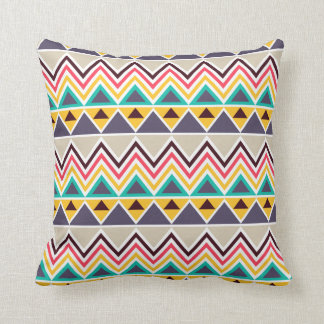 Aztec Chevron #5 @ VictoriaShaylee Throw Pillow