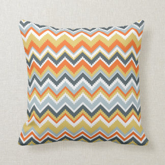 Aztec Chevron #9 @ VictoriaShaylee Throw Pillow