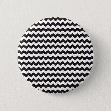 Aztec Themed Aztec Chevron black and white zigzag stripes Button