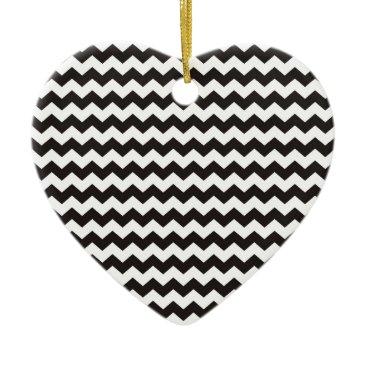 Aztec Themed Aztec Chevron black and white zigzag stripes Ceramic Ornament