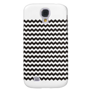 Aztec Chevron black and white zigzag stripes Galaxy S4 Case