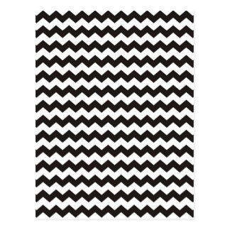 Aztec Chevron black and white zigzag stripes Postcard