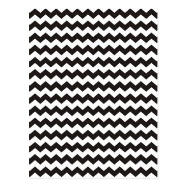 Aztec Themed Aztec Chevron black and white zigzag stripes Postcard