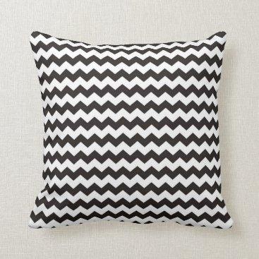 Aztec Themed Aztec Chevron black and white zigzag stripes Throw Pillow