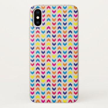 Aztec Themed Aztec Chevron colorful iPhone X Case