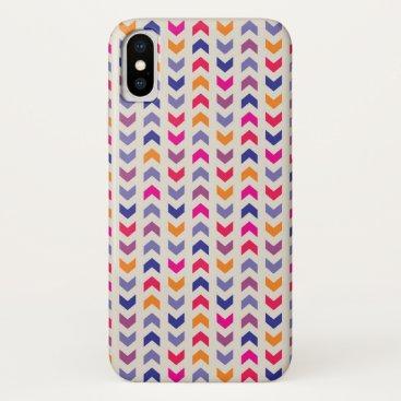 Aztec Themed Aztec Chevron colorful pattern iPhone X Case