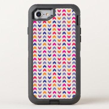Aztec Themed Aztec Chevron colorful pattern OtterBox Defender iPhone 8/7 Case